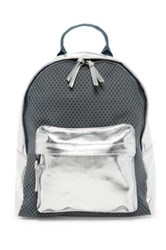 Poverty Flats Sport Faux Leather Backpack Gray