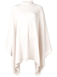 Barrie Knitted Cape Jumper Neutrals