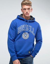 Russell Athletic Rosette Logo Hoodie Blue