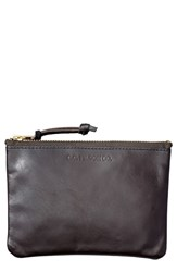 Filson Medium Leather Zipper Pouch Brown