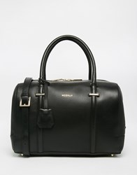 Modalu Leather Bowler Bag Black