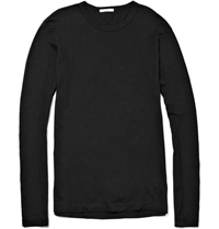James Perse Long Sleeved Cotton Jersey T Shirt Black
