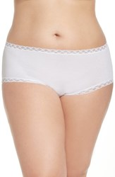 Natori Plus Size Women's Bliss Hipster Panty White