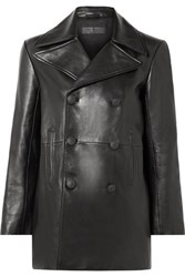 Rag And Bone Nella Double Breasted Leather Coat Black