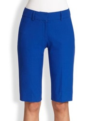 Piazza Sempione Stretch Cotton Walking Shorts Cobalt Blue