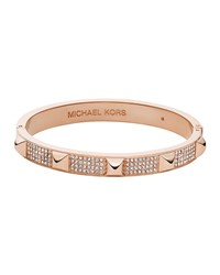 Rose Golden Pave Pyramid Bangle Michael Kors