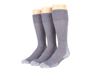 Thorlos Over Calf Ultra Light 3 Pair Pack Quarry Grey Crew Cut Socks Shoes Gray