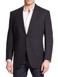 Canali Basic Wool Sportcoat Navy