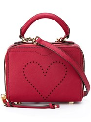 Rebecca Minkoff Perforated Heart Cross Body Bag Red