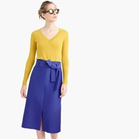 J.Crew Collection A Line Midi Skirt In Italian Wool Blend