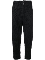 Lost And Found Ria Dunn Cropped Darted Trousers Black