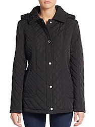 Calvin Klein Quilted Hooded Jacket Black