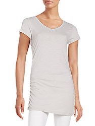 Saks Fifth Avenue Ruched Tunic Grey