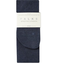 Falke Sensitive London Socks 6499 Navy Blue Mel