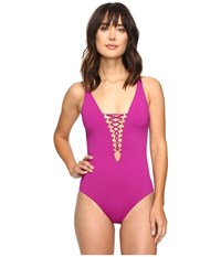Becca Hourglass One Piece Mulberry Women's Swimsuits One Piece Purple