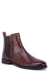 Robert Graham Nash Paisley Tooled Chelsea Boot Brown Leather
