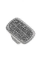 Women's Konstantino 'Classics' Rectangle Filigree Ring Silver