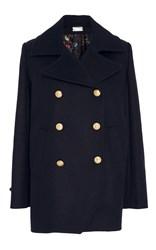 Alexis Mabille Wool Cashmere Peacoat Navy