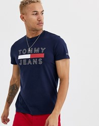 Tommy Jeans Essential Logo T Shirt In Navy