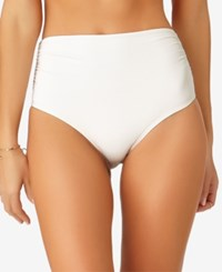 Anne Cole Live In Color High Waist Bikini Bottoms Created For Macy's Women's Swimsuit White