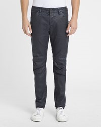 G Star Navy Waxed Stretch 3D Slim Jeans Blue