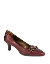 Circa Joan And David Prvue Leather Loafer Pumps Red Leather