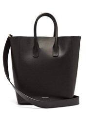 Mansur Gavriel Red Lined Leather Tote Black Multi