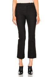 Derek Lam 10 Crosby Cropped Flare Pants In Black