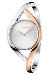 Calvin Klein Party Dial Bracelet Watch 28Mm Rose Gold Silver