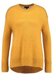 New Look Longline Jumper Ochre Light Brown