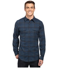 Royal Robbins Mason Plaid Long Sleeve Shirt Eclipse Men's Long Sleeve Button Up Olive