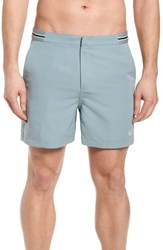 Fred Perry Tape Swim Shorts Silver Blue