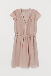 Handm H M Dress With Tie Belt Pink