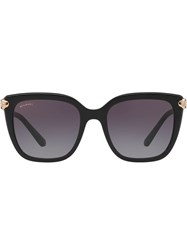 Bulgari Oversized Square Frame Sunglasses Black
