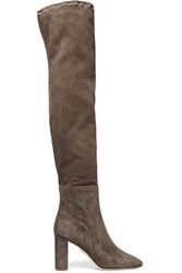 Chelsea Paris Suede Over The Knee Boots Gray