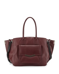 Time's Arrow Jo Leather Tote Bag Burgundy