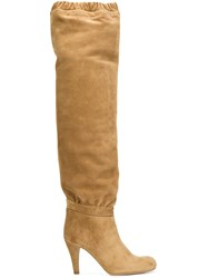 Chloe 'Lena' Over The Knee Boots Brown