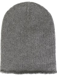 Friendly Hunting Ribbed Knit Beanie Grey