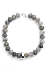 Simon Sebbag Women's Faceted Grey Quartz Collar Necklace
