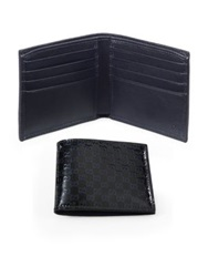 Patent Microguccissima Leather Wallet Blue Black