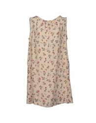 Robert Friedman Short Dresses Beige