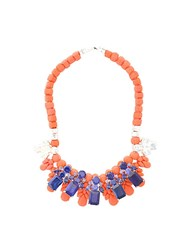Ek Thongprasert Stone Embellished Necklace Yellow And Orange