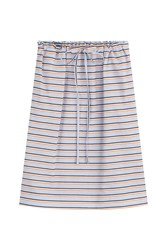 Jil Sander Navy Striped Cotton Skirt Multicolor