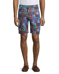Robert Graham Flow Rider Patchwork Print Shorts Multi