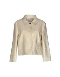 Genny Suits And Jackets Blazers Women Beige