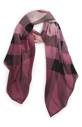 Burberry Women's Ombre Check Silk Scarf