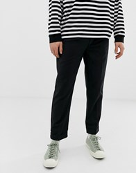 Bellfield Cropped Tapered Trousers In Black