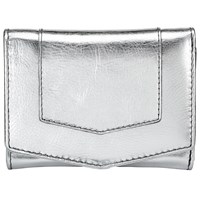 John Lewis Emily Leather Card Holder Silver