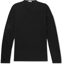 James Perse Combed Cotton Jersey T Shirt Black