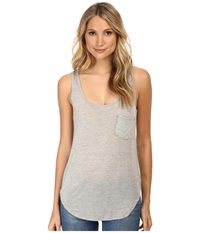 Lamade Boyfriend Tank W Pocket Heather Grey Women's Sleeveless Gray